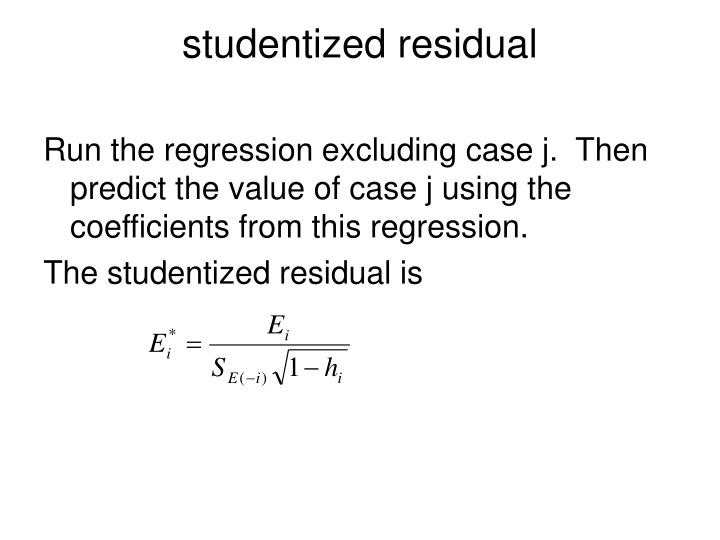 studentized residual
