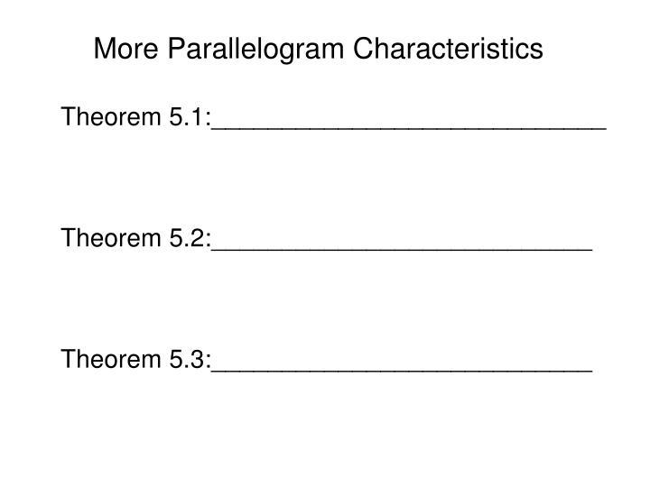 More Parallelogram Characteristics