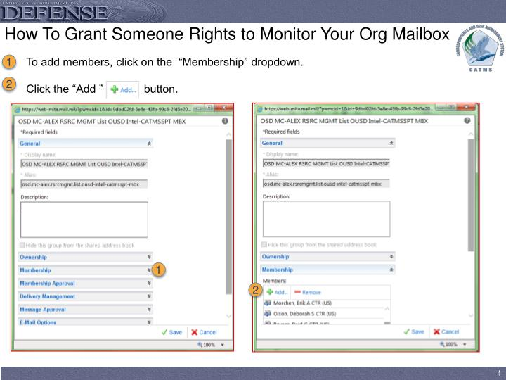 How To Grant Someone Rights to Monitor Your Org Mailbox