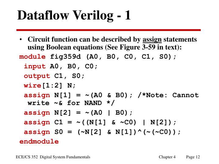Dataflow Verilog - 1