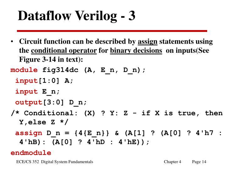 Dataflow Verilog - 3