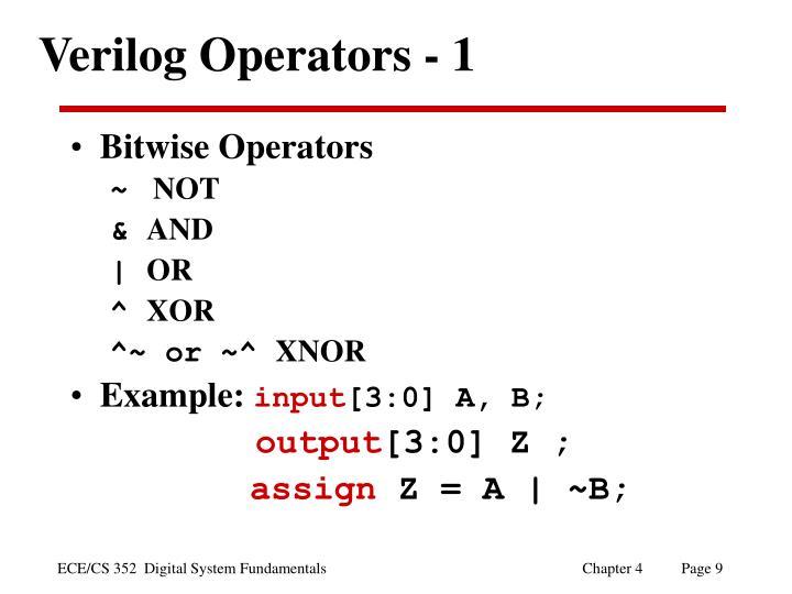 Verilog Operators - 1