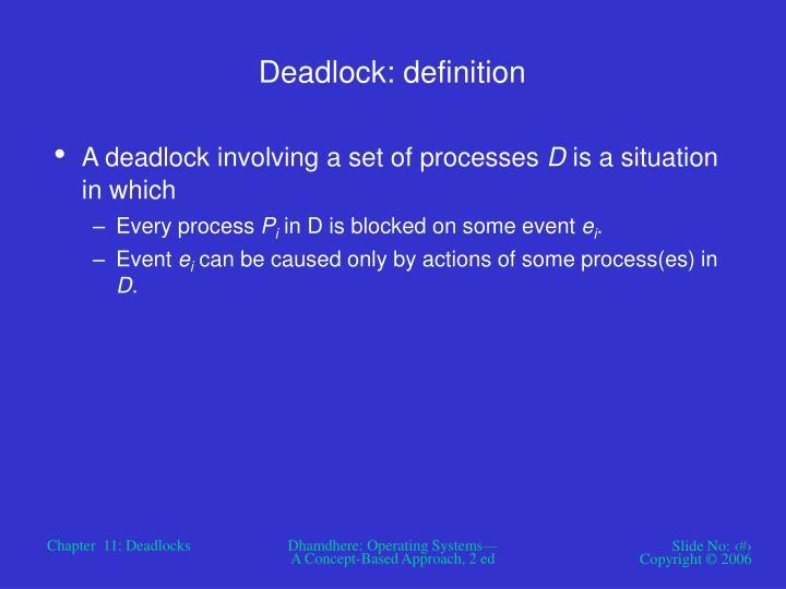 Deadlock: definition
