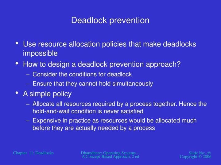 Deadlock prevention
