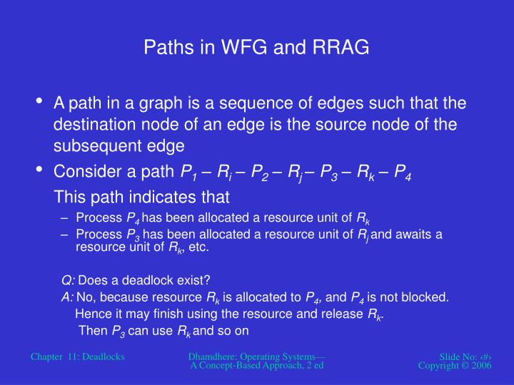 Paths in WFG and RRAG