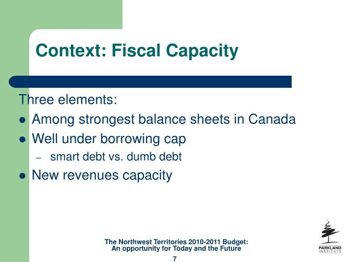 Context: Fiscal Capacity