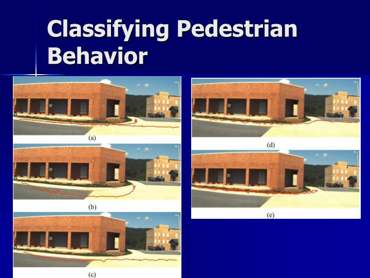 Classifying Pedestrian Behavior
