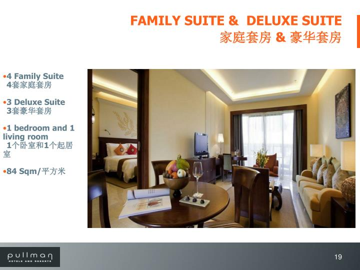 FAMILY SUITE &  DELUXE SUITE