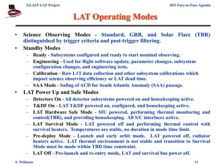 LAT Operating Modes