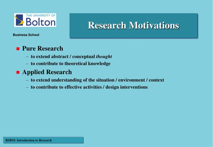 Research Motivations