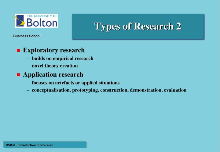 Types of Research 2