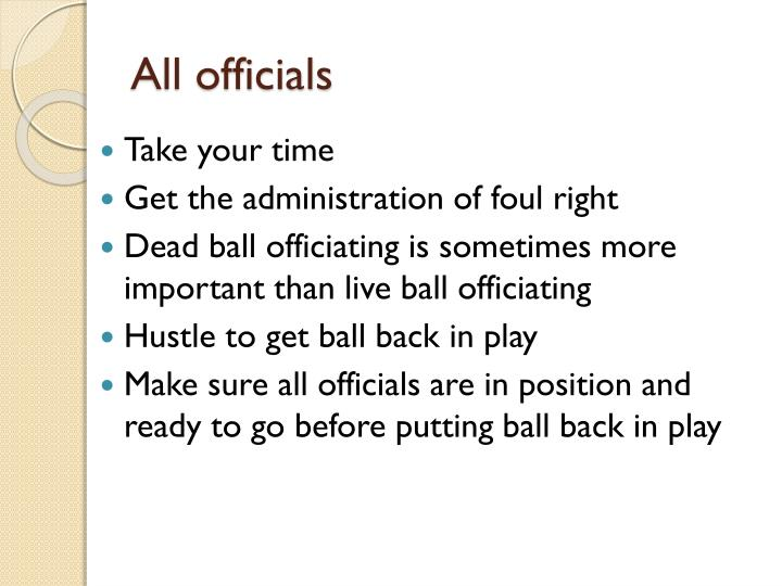 All officials