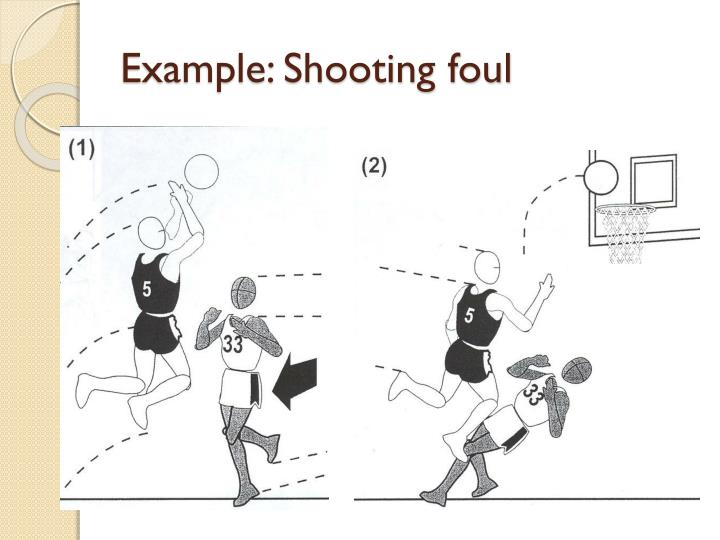 Example: Shooting foul