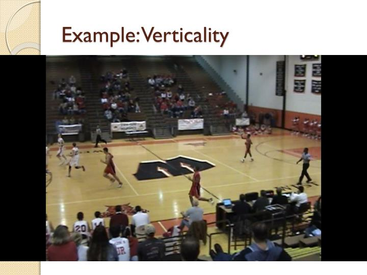 Example: Verticality