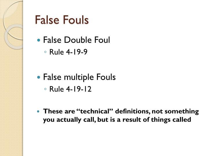 False Fouls