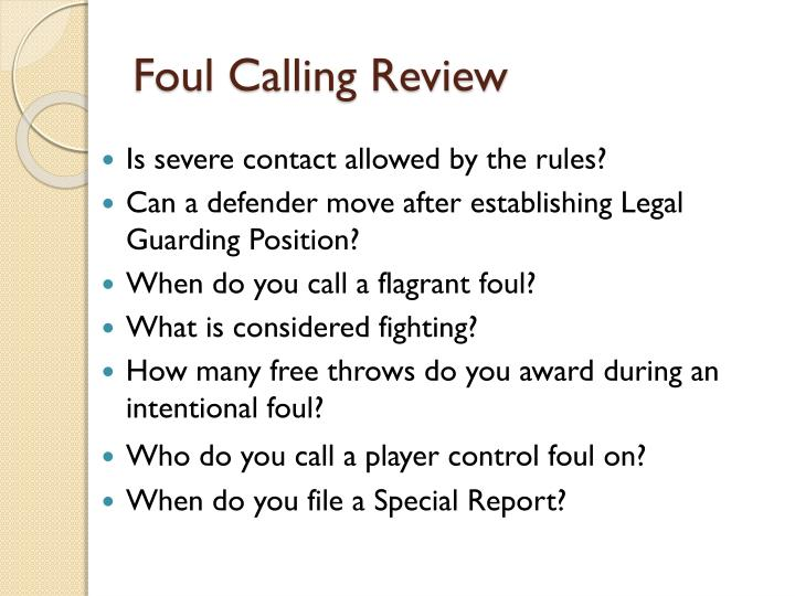 Foul Calling Review