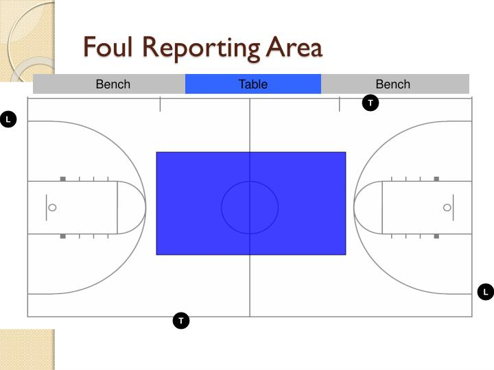 Foul Reporting Area