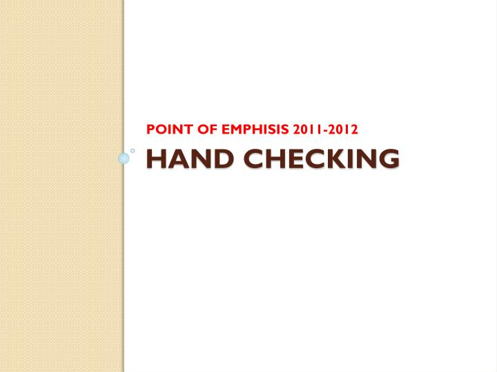 POINT OF EMPHISIS 2011-2012