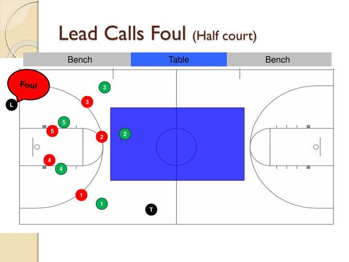 Lead Calls Foul