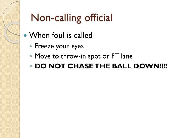 Non-calling official
