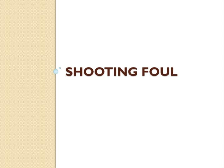 Shooting foul