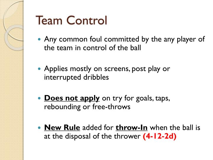 Team Control