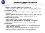 conceptual user requirements