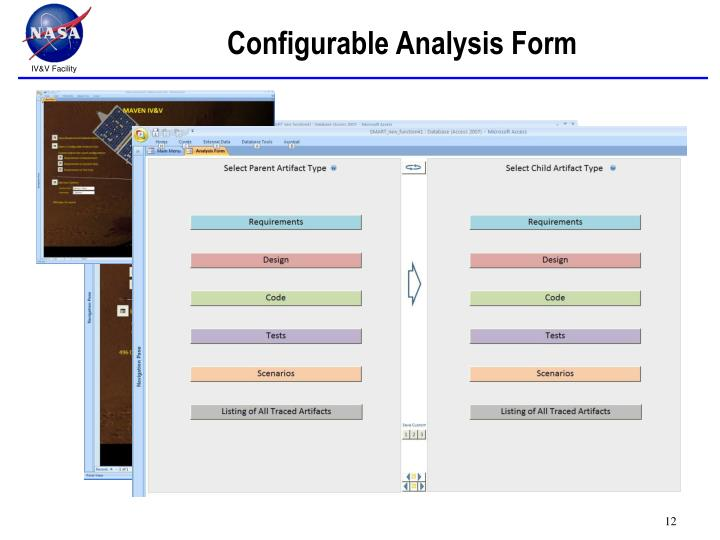 Configurable Analysis Form