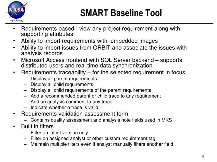 SMART Baseline Tool