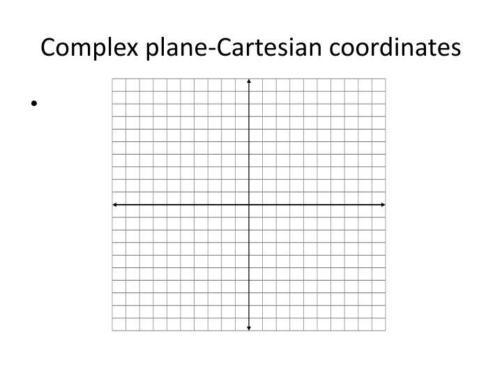 Complex plane-Cartesian coordinates
