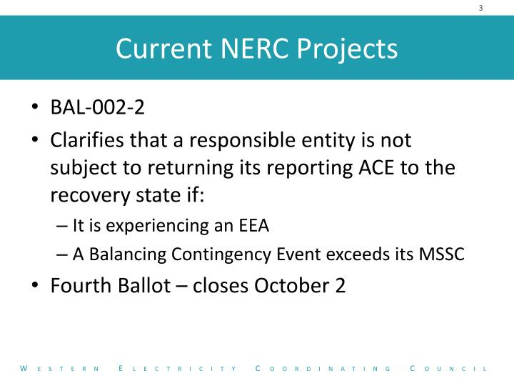Current nerc projects1
