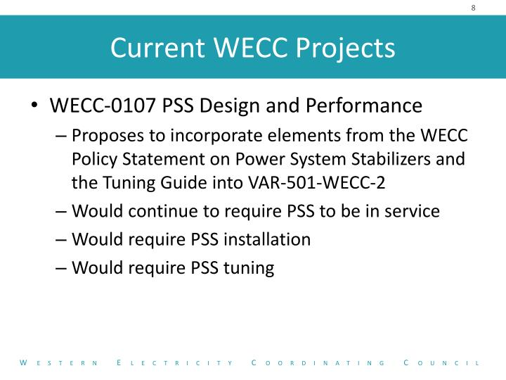 WECC-0107 PSS Design and Performance