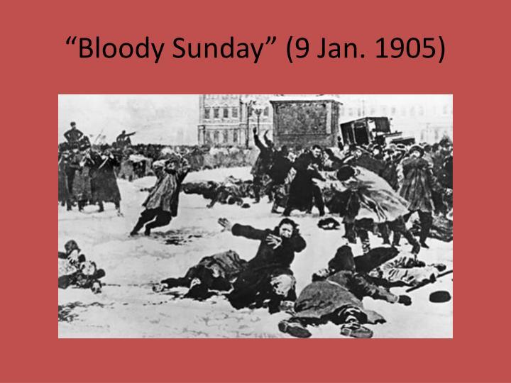 """Bloody Sunday"" (9 Jan. 1905)"