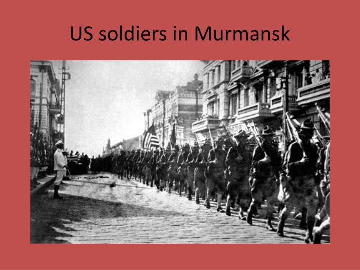 US soldiers in Murmansk