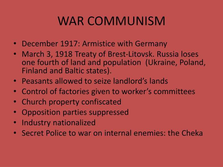 WAR COMMUNISM