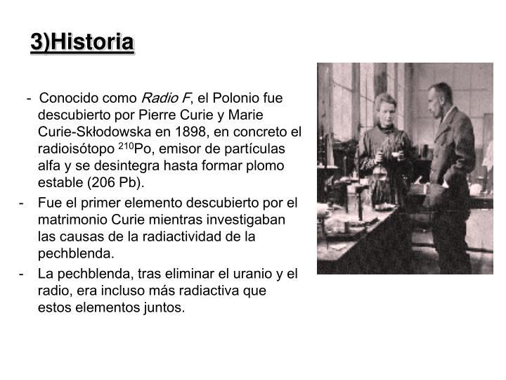 3)Historia