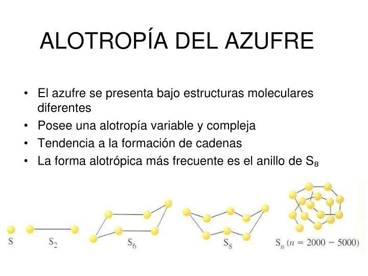 ALOTROPÍA DEL AZUFRE