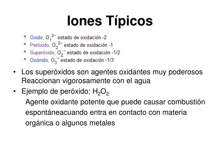 Iones Típicos