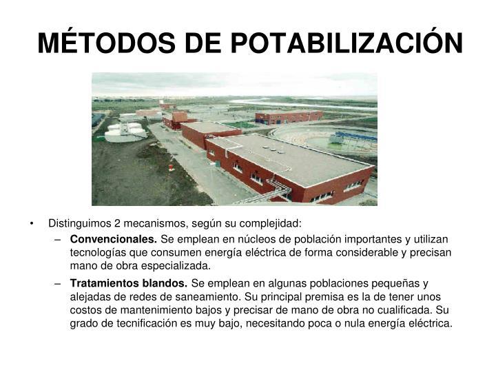 MÉTODOS DE POTABILIZACIÓN