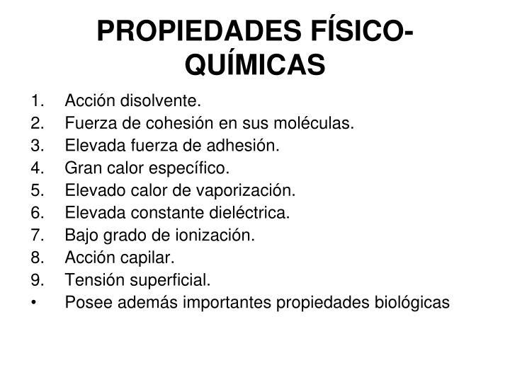 PROPIEDADES FÍSICO-QUÍMICAS