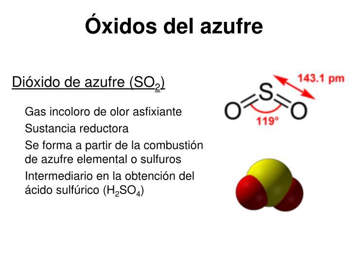 Óxidos del azufre