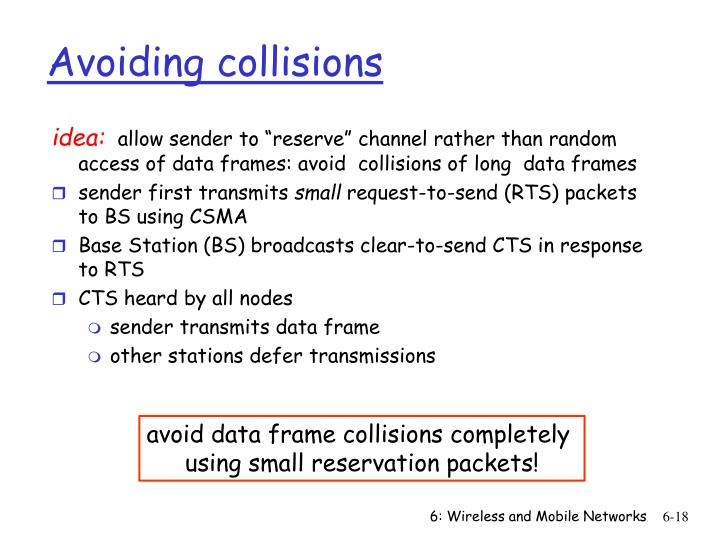 Avoiding collisions