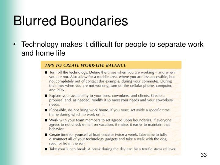 Blurred Boundaries