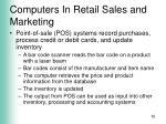 computers in retail sales and marketing