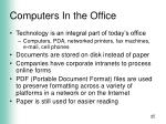 computers in the office