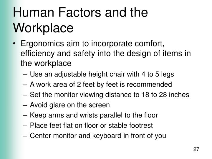 Human Factors and the Workplace