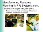 manufacturing resource planning mrp systems cont