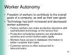worker autonomy
