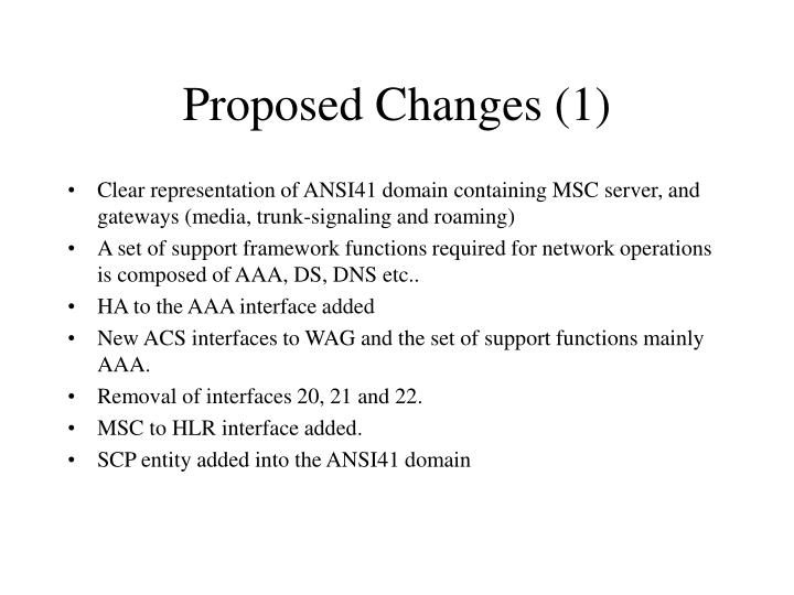 Proposed Changes (1)