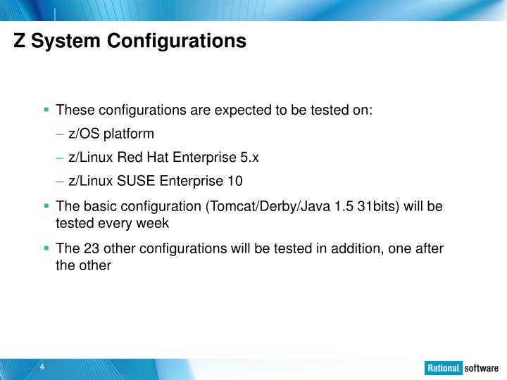 Z System Configurations